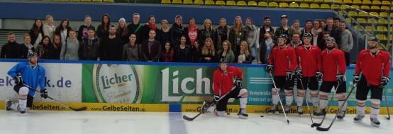 Exkursion zum Eishockeyclub Löwen Frankfurt