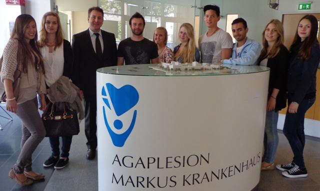 Exkursion Zum Agaplesion Markus Krankenhaus Ec Europa Campus
